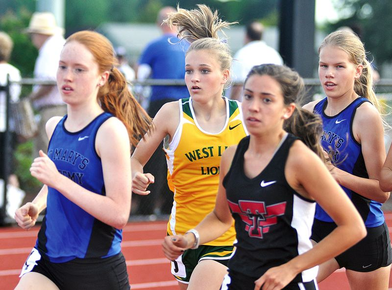 West Linn girls track is young but also talented