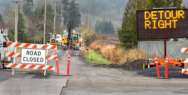 Stretch of Chehalem Drive closed for improvements