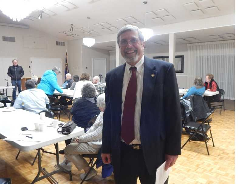 REGAL COURIER PHOTO: BARBARA SHERMAN - Rep. Rich Vial (R-Scholls) was a speaker at the March 8 meeting of the Southwest Corridor Republican Club held at the King City Clubhouse.
