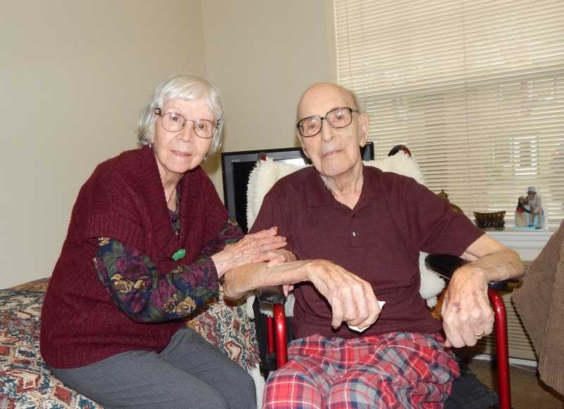 REGAL COURIER PHOTO: BARBARA SHERMAN - Irene and Victor Struznik are doing well after getting settled in Riverwood Assisted Living in Tualatin.