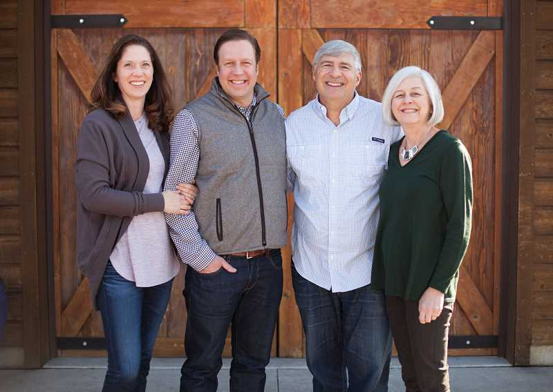 From left are Nici and Scott Haladay and Gordy and Kate Venneri. Gordy Venneri is an original founder and winemaker of Walla Walla Vintners.