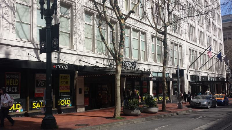PAMPLIN MEDIA GROUP: JOSEPH GALLIVAN  - Macy's will be out by April, to be replaced by open plan creative office space over five floors. The building will be rebranded Meier & Frank, the way it used to be. The Nines Hotel in the top part of the building will remain a separate entity.