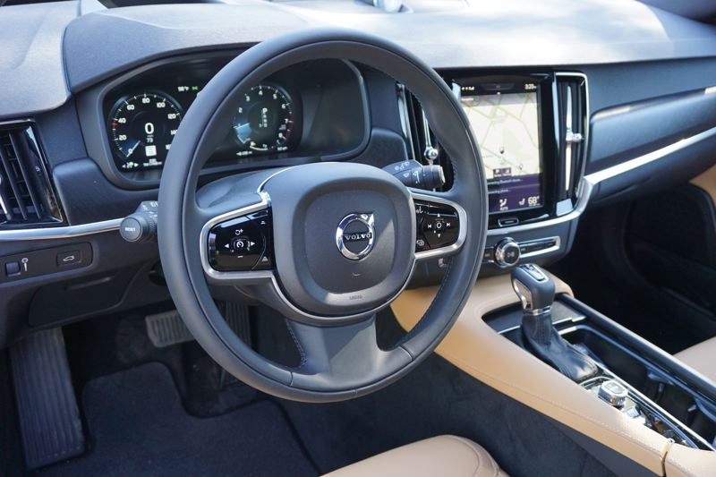 PORTLAND TRIBUNE: JEFF ZURSCHMEDIE - The tech in the V90 Cross Country is the same as the rest of Volvo's 90-series vehicles, with a large tablet-style touch screen system in the center of the dash.