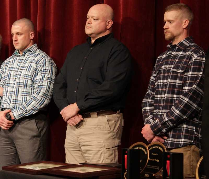 Four officers with ties to Sherwood honored in separate events