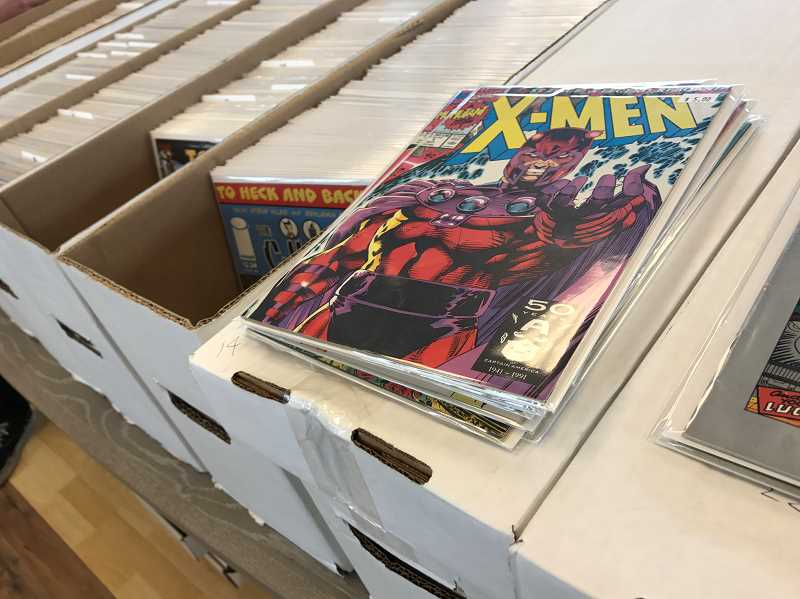 HILLSBORO TRIBUNE PHOTO: GEOFF PURSINGER - The shop specializes in back issues of older comicbooks that people might have missed purchasing in their collections over the years.
