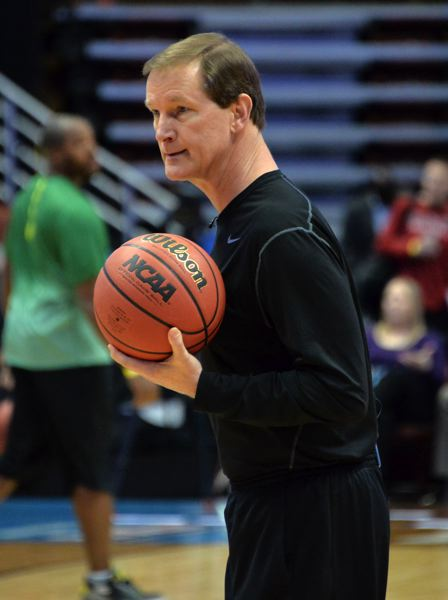 TRIBUNE FILE PHOTO: KIRBY LEE - Oregon Ducks coach Dana Altman says North Carolina will be a huge challenge in rebounding, among other things, in Saturday's NCAA Final Four game at Glendale, Arizona.
