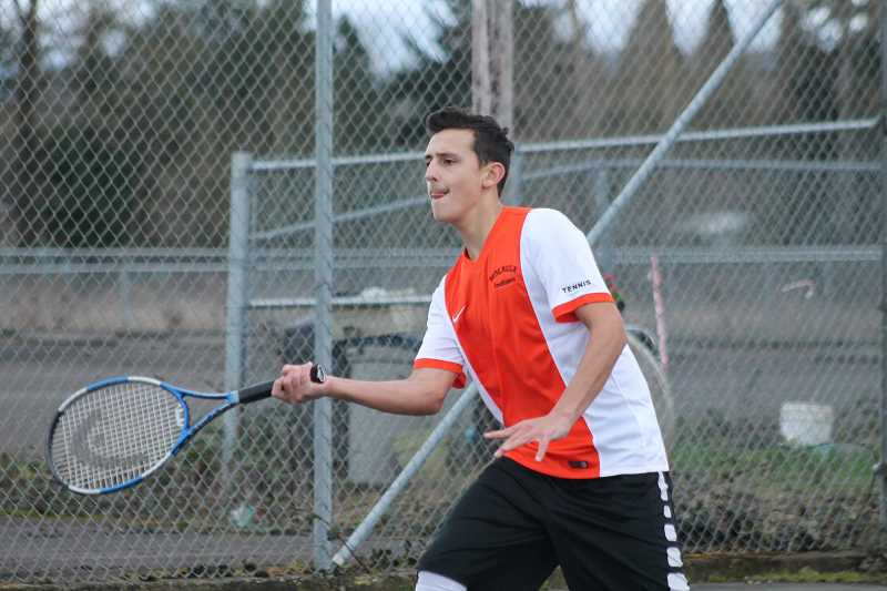 Molalla boys tennis still looking to get full match under their belts