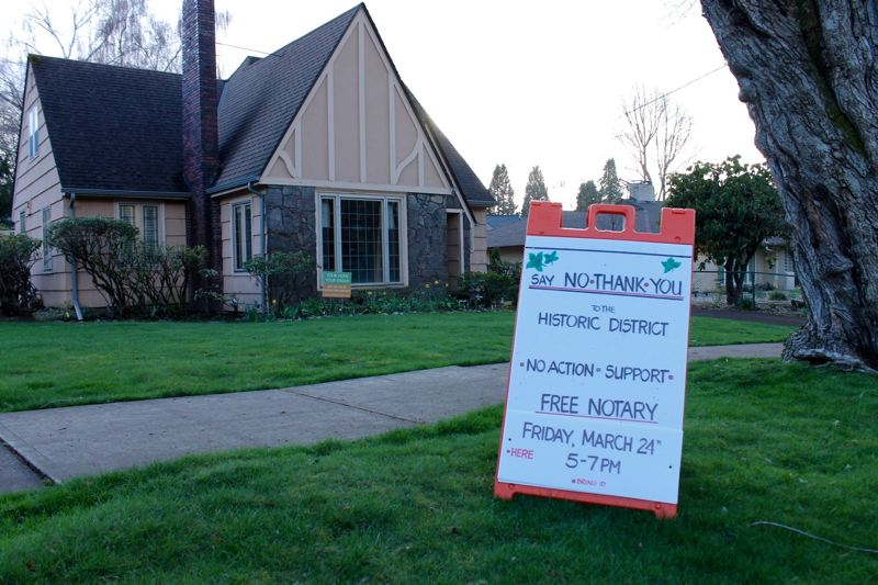 TRIBUNE PHOTO: LYNDSEY HEWITT - A home recently offered a free notary for people to submit objections.