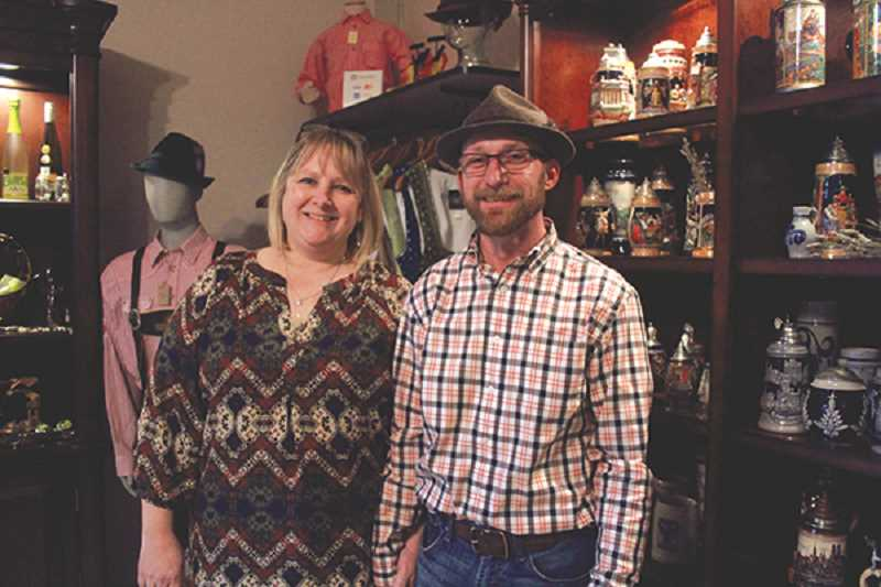 LINDSAY KEEFER - Kristi and Scott Stokley have run Touch of Bavaria for nine years, the last of which has been at the Weissenfels Blacksmith Shop on Sheridan Street. The shop sells authentic German clothing and knick knacks.