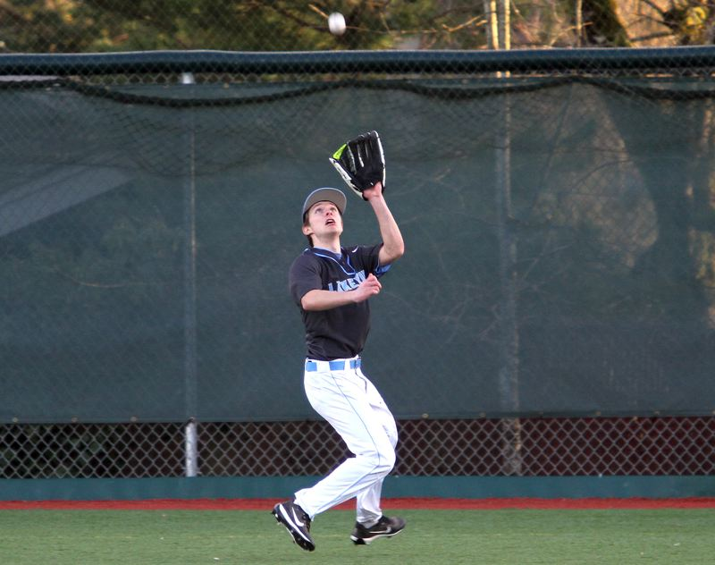 REVIEW PHOTO: MILES VANCE - Lakeridge outfielder Cal Seneker is one of the Pacers' core of senior leaders as the team prepares for the coming Three Rivers League season.