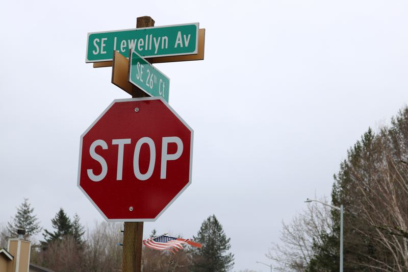 OUTLOOK PHOTO: ZANE SPARLING - The corner of Southeast Lewellyn Avenue and Southeast 26th Court in Troutdale.