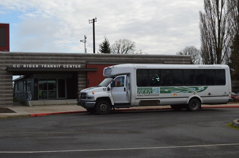 SPOTLIGHT FILE PHOTO - CC Rider, the bus agency serving Columbia County, suspects a contracted driver may have stolen cash from bus ticket sales during routes from Columbia County to Portland. An investigation is underway.