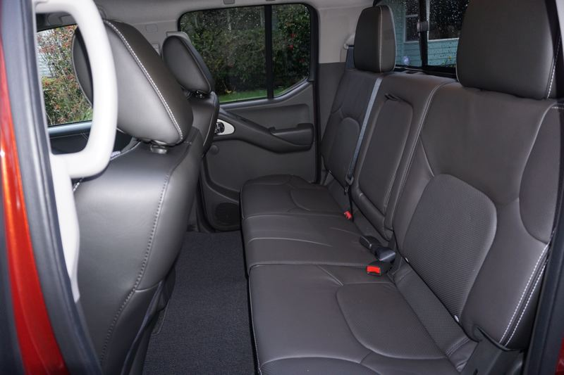PORTLAND TRIBUNE: JEFF ZURSCHMEIDE - Inside, The Frontier offers a full crew cab, which is what most people like. The ability to carry five passengers as well as a half-ton of cargo bridges the gap between the old-fashioned pickup and an SUV, giving you the best of both worlds.