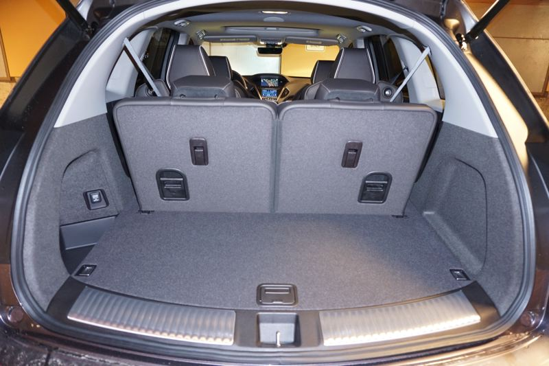 PORTLAND TRIBUNE: JEFF ZURSCHMEIDE - The 2017 Acura MDX Sport Hybrid is also practical, with ample storage behind the third row of seats, and even more with it and the second row folded down.