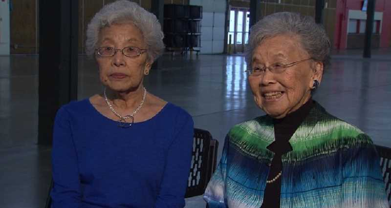 KOIN 6 NEWS - Aya Fujii, left, and Taka Mizote were rounded-up from their Hillsboro home in 1942 and sent to a Japanese-American internment facility for the duration of World War 2. March 29, 2017 (KOIN)