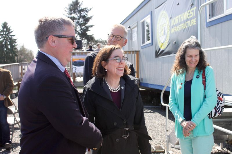 TRIBUNE PHOTO - Commissioner Amanda Fritz and many others visited the Cully Park site on Monday for Governor Kate Brown's visit.