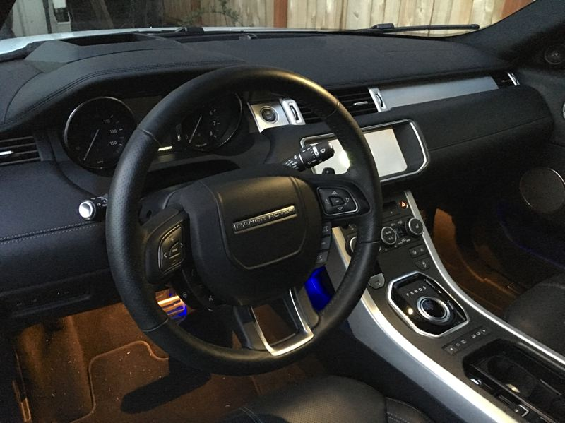 PORTLAND TRIBUNE: JEFF ZURSCHMEIDE - The interior is full Range Rover luxury. The Evoque comes in two trim levels — SE and HSE — and both get full leather upholstery.