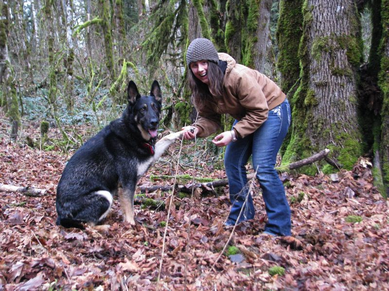 CONTRIBUTED PHOTO: SARA BEISLEY - Sara Beisley's relationship with her dog Jager inspired her to start Lend a Paw, a local group dedicated to providing financial assistance and education to those with pets.