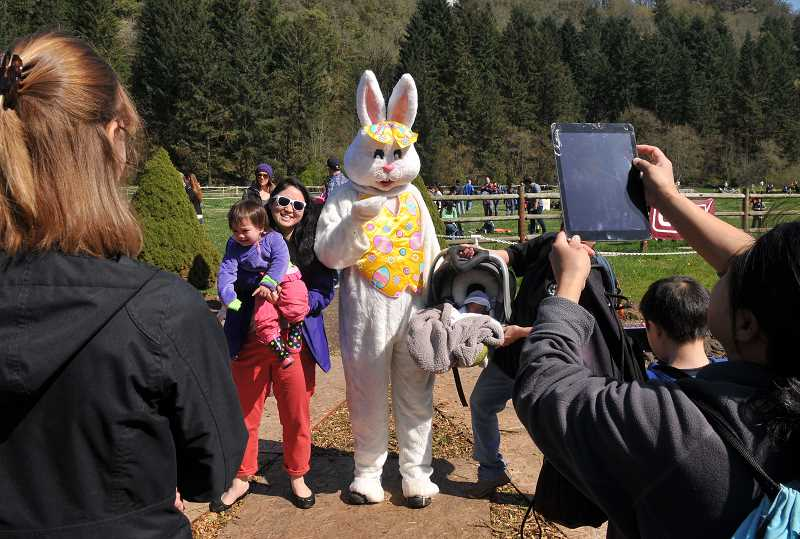 REVIEW FILE PHOTO: VERN UYETAKE - No Hop at the Hunt would be complete without a visit from the Easter bunny, who promises to be on hand for this year's event on April 15.