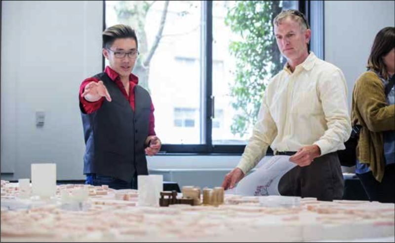PAMPLIN MEDIA GROUP: JON HOUSE - NewSchool student Ivan Hu talks about his class project of reimagining the Ford District to Todd DeNeffe.