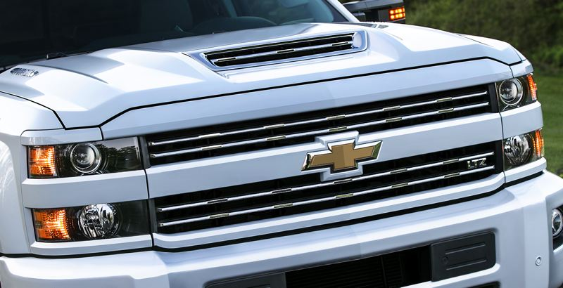COURTESY CHEVROLET - The 2017 Chevrolet Silverado HD features an all-new, patented air intake system. Marked by a dramatic hood scoop, the system drives cool, dry air into the engine for sustained performance and cooler air temperatures during difficult driving conditions.