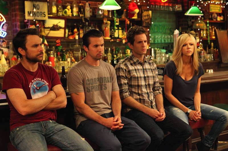 COURTESY: FOX TELEVISION - 'It's Always Sunny in Philadelphia' follows the misadventures of four friends played by, from left, Charlie Day, Rob McElhenney (Olson's husband in real life), Glenn Howerton and Olson.