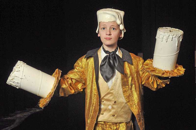 SPOKESMAN PHOTO: VERN UYETAKE - Andrew Worth plays Lumiere in the West Linn-Wilsonville School District's upcoming production of 'Beauty and the Beast.'