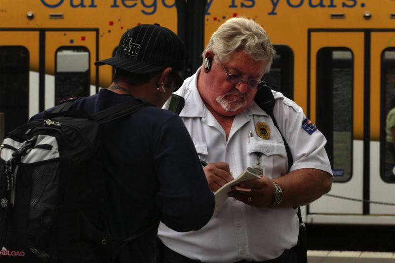 PAMPLIN MEDIA GROUP FILE PHOTO  - Inspectors can ask to see proof of fare either on the train or on the platform.
