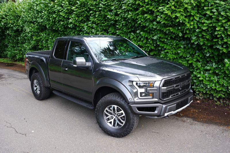 PORTLAND TRIBUNE: JEFF ZURSCHMEIDE - Not only is the Raptor crazy fast, it's up-to-date with Ford's EcoBoost 3.5-liter twin-turbocharged V6 engine. The Raptor steps up with 450 horsepower and a whopping 510 pound-feet of torque. That power is available to all four wheels through a 10-speed automatic transmission.