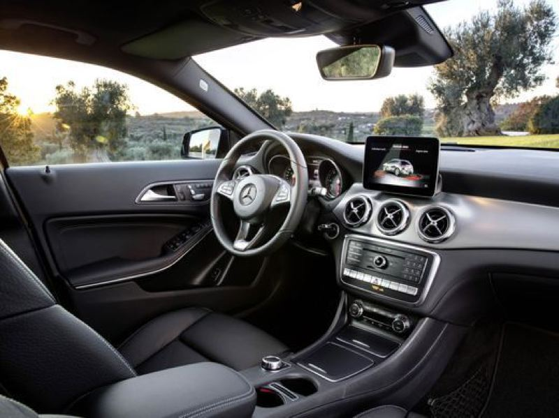 COURTESY MERCEDES-BENZ - The interior of the GLA250 is lined with highest quality materials and the latest automotive technologies.