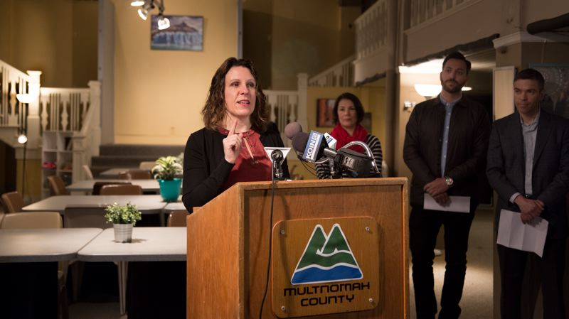 COURTESY: MULTNOMAH COUNTY - Multnomah County Chair Deborah Kafoury announced the shelter's opening on Monday.