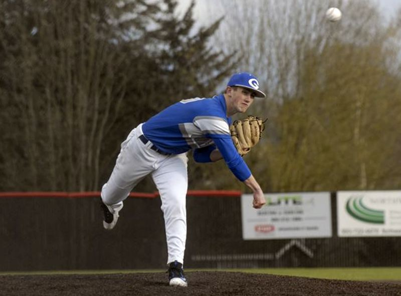 GRESHAM OUTLOOK: MATT RAWLINGS - Gresham's Jacob Biesterfeld deals to the plate in the Gophers' 8-0 win over Clackamas