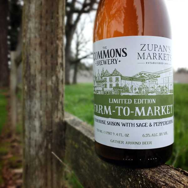 SUBMITTED PHOTO  - The limited edition, light-bodied saison will be available at Zupans Markets and features a robust, champagne-like carbonation brewed with white peppercorn and white sage, with bright citrus and herbal notes that cleanse and refresh the palate.