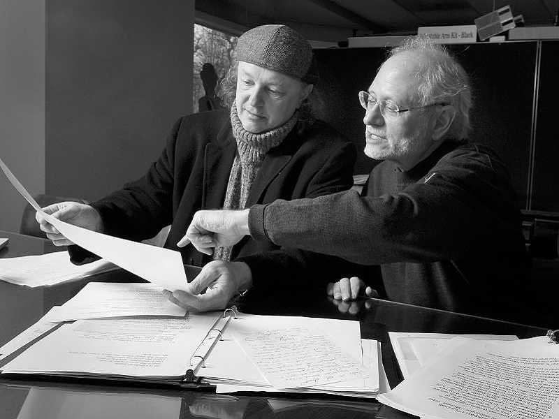 FILE PHOTO: VERN UYETAKE  - Michael Allen Harrison, left, and Rabbi Alan Berg have formed Harrison Berg Presents, a company focused on presented high-quality musical productions.