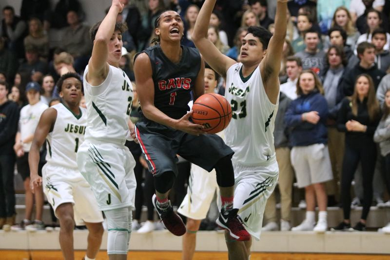REVIEW/NEWS PHOTO: JIM BESEDA - Elijah Gonzales averaged 25.3 points, 6.1 assists, 4.5 rebounds, and 3.9 steals in leading Clackamas to a 24-5 record.