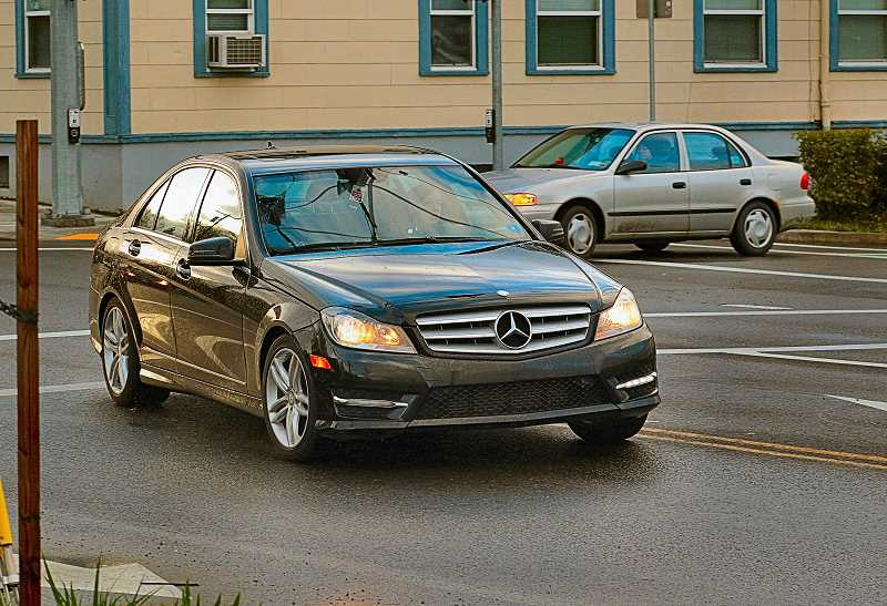 DAVID F. ASHTON - This Florida-plated Mercedes Benz was one of six vehicles turning illegally from northbound 6th Avenue to westbound Tacoma Street in less than ten minutes - after the traffic signal cycle had been changed.