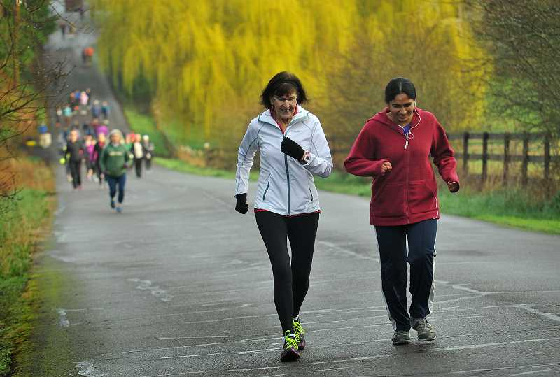 SPOKESMAN FILE PHOTO - Hundreds of women from around the metro area gather each year for the Queen of the High Road 10K and half-marathon in Wilsonville.