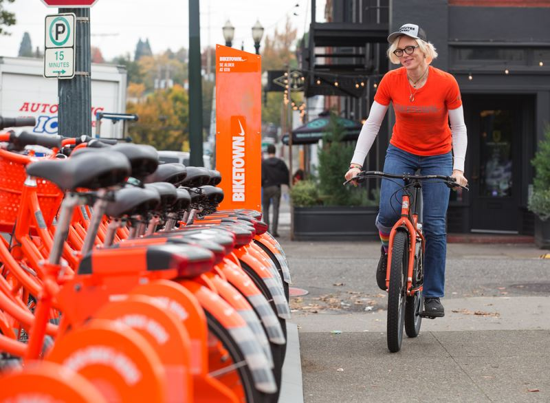COURTESY PHOTO - The introduction of Biketown, Portland's bike share program, is one of many gains made in the last two years that help meet the city/county Climate Action Plan.