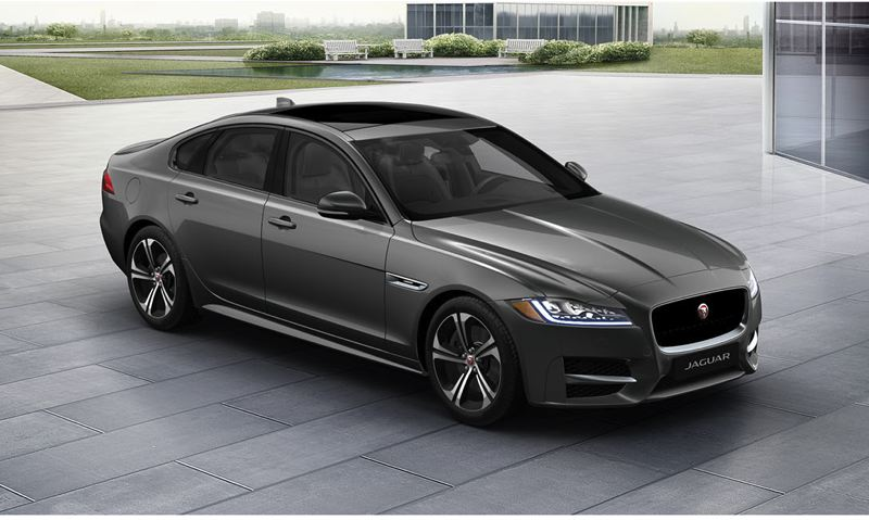 COURTESY JAGUAR - The 2017 Jaguar XF is now offered with an economical but still powerful turbocharded 2.0-liter diesel engine.