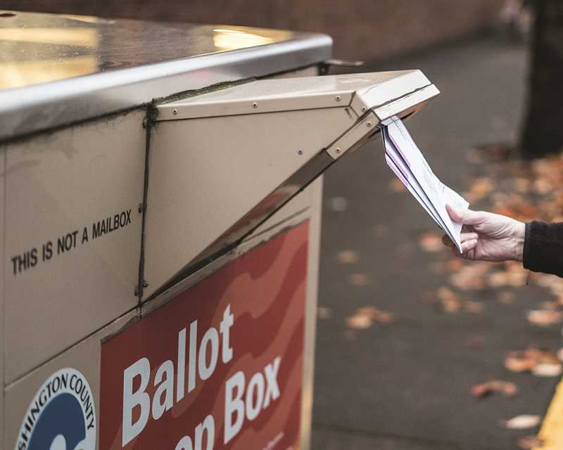 TRIBUNE FILE PHOTO - Ballot drop-off sites are available across Washington County. Voters can mail in their ballots until Thursday, May 11.