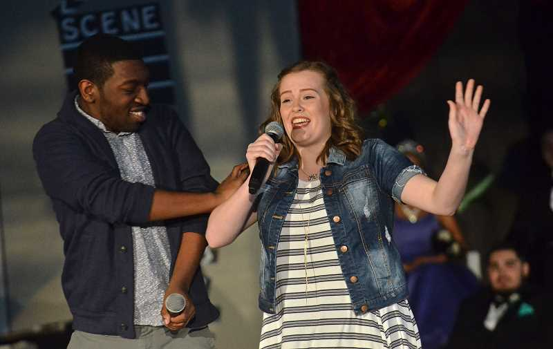 SPOKESMAN PHOTO: VERN UYETAKE - Kalonni Smith and Ashlyn Rose perform a song during Springfest Friday, April 28.