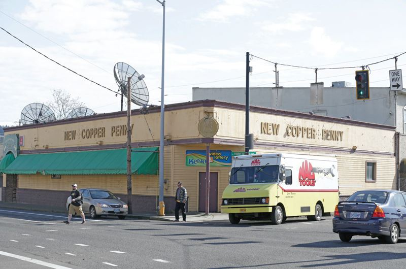 PORTLAND TRIBUNE FILE PHOTO - The New Copper Penny recently was torn down in Lents, a sign of new things to come in the commercial heart of the neighborhood.
