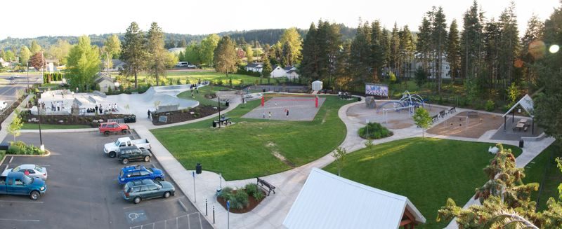 CONTRIBUTED PHOTO: SKATE OREGON - Wade Creek Park first opened in 2008. and included a playground, restrooms and a picnic pavilion.  Four years later, the skate park was added. The citys Parks and Recreation Commission is planning for the next phase of the park.
