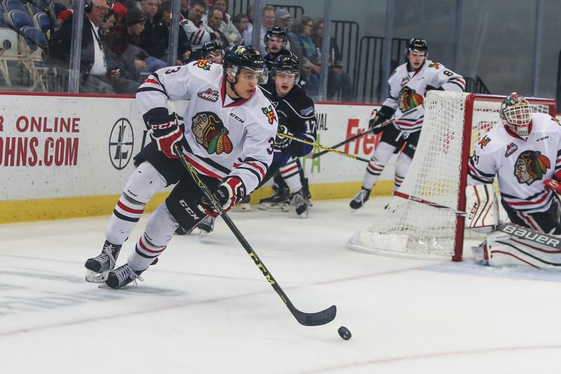 TRIBUNE PHOTO: JONATHAN HOUSE - Defenseman Caleb Jones is likely to go from the Portland Winterhawks to the NHL.