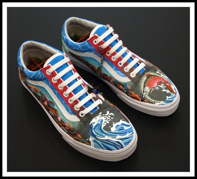 CONTRIBUTED PHOTO - Their local flavor shoes focus on the fishing-frenzied quality of the Pacific Northwest.