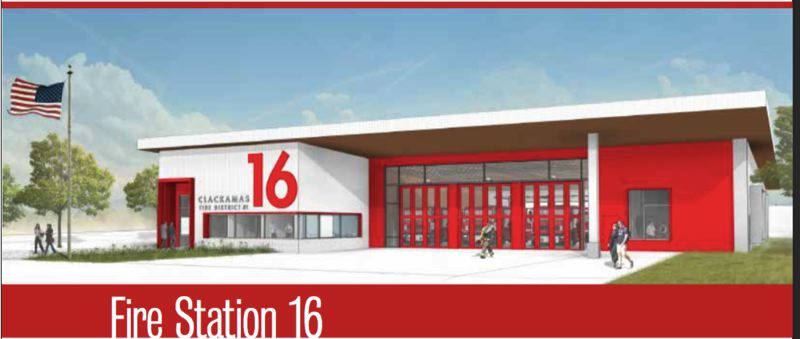 SUBMITTED: HENNEBERY EDDY ARCHITECTS - The rendering for the new firestation, shown above. Hennebery Eddy also designed Fire Station 76 in Gresham, built by Bremik Construction, which won a 2015 AIA merit award.