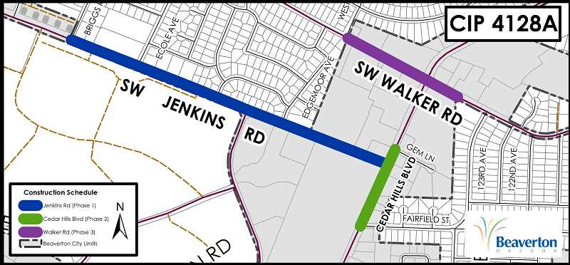 CITY OF BEAVERTON - A waterline project is expected to have an impact on traffic.