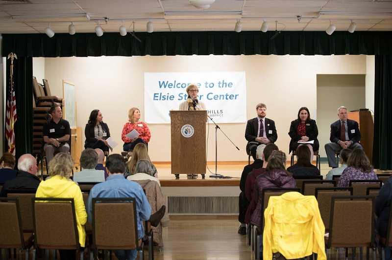 THE TIMES: JAIME VALDEZ - Six of seven candidates for the THPRD board spoke at a forum on Saturday at the Elsie Stuhr Center.