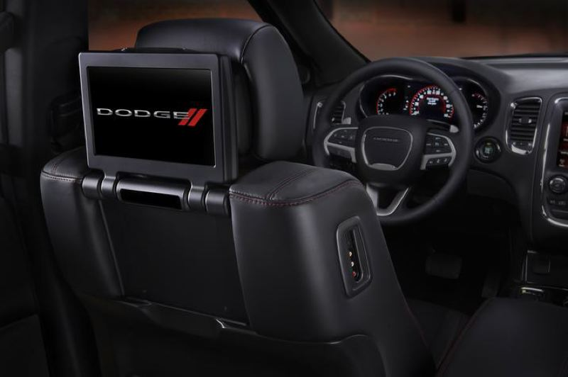 COURTESY FCA US - A rear seat entertainment package is available for the 2107 Dodge Durango.