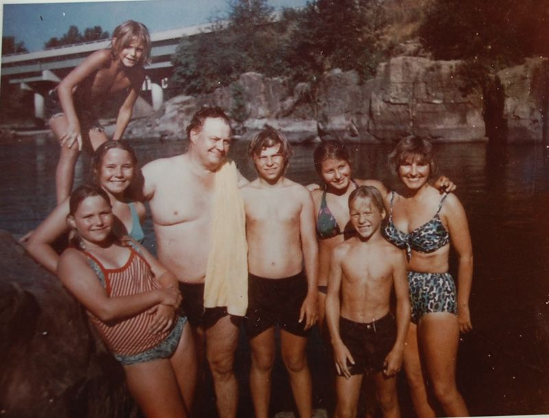 SUBMITTED PHOTO - In the photo circa 1980, Clifton James enjoys the Clackamas River with his family near High Rocks in Gladstone.